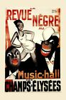 Music Hall Champs Elysees Revue Negre Theater Show Vintage Poster Repro FREE S/H