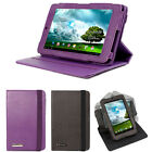 360° Rotating Leather Flip Skin Swivel Stand Cover Case For Asus Memo Pad ME172V