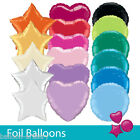 Solid COLOUR Round Star Heart Shape Wedding Birthday Party Helium Foil Balloons