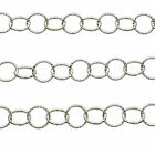 925 Sterling Silver BULK Hammered Round 5mm or 13mm Link Chain