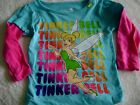 *TINKERBELL TOP -  SZS 2T, 3T - NEW