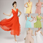 Women's Vogue Boho Chiffon Party Ball Gown Evening Maxi Long Casual Dress Hot