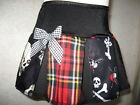 New Girls Black white Red Pirates Tartan vampire Skulls Skirt punk goth party