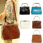 New Retro Vintage Lady PU Faux leather shoulder handbag Satchel Tote bag purse