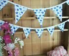 Brand New BLUE HEARTS Double Sided Bunting - large or small versions available