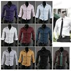New Purity Dress Shirts 10 Colors Long Sleeves Style Design Mens Slim Fit Casual