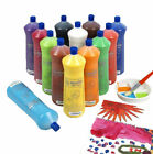 SCOLA 13 COLOURS 600ml READY MIX POSTER PAINT ORANGE RED WHITE GREEN BLUE BLACK+