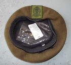 PRINCESS OF WALES KHAKI BERET WITH BADGE - MUTIPLE SIZES - BRITISH ARMY ISSUE