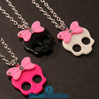 FUNKY PUNK GIRL SKULL NECKLACE CUTE KITSCH RETRO KAWAII DIAMANTE GOTH EMO PIRATE