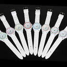 NEW Sport Soft Rubber Silicone Crystal Jelly Unisex Crystal Wrist Watch 7 Color