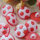 Red Football 12mm Plastic Buttons Sewing Scrapbooking Cardmaking Craft FBB