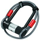 NEW MAGNUM BIKE 13MM SHACKLE / COIL LOCK COMBO. 2 LENGTHS AVAILABLE. LK3102-03.