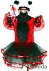 Birthday Party Ladybug Wings Headband 4Pc Tutu Dress Up Fancy Costume 1-6Y