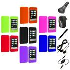For iPod Touch 3rd 2nd Gen 3G 2G Color Gel Soft Skin Case Cover+Accessories