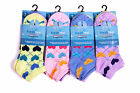 L62 LADIES GIRLS 12prs MULTI COLOUR HEARTS DIAMOND DESIGN TRAINER LINER SOCKS