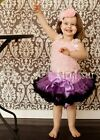 Purple Black Pettiskirt Halloween Party Tutu 1-7Y W43