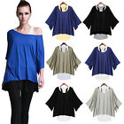 Damen SET 2 in 1 Tunika T-Shirt Bluse Shirt Top Kleid Neu Batwing Longshirt  neu