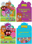 Moshi Monsters Invitations And Thank You Stationery for Birthday Parties