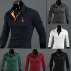 New Mens  Long sleeve Slim Fit Casual Polo Sexy Shirts T-Shirt Tee TOP A1022