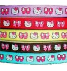 "5YD 3/8"" lot hello kitty pink bow daisy grosgrain ribbon brown blue red grape"