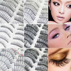 60 Pairs Mink Eyelashes Natural Long Fake False Eyelashes Eye Makeup Black
