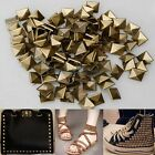 100Pcs Metal Square Pyramid Spike Studs Spots DIY Leathercraft 6mm/20mm Hot