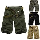 Mens Casual Military Army Cargo Combat Work Cotton Fifth Shorts Pants Gray Black