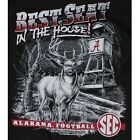 Alabama Crimson Tide T-Shirts - Best Seat In The House - T-Shirt Color Is Black