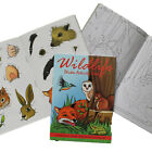 WILDLIFE FOREST ANIMAL A6 ACTIVITY STICKER BOOK CHILDRENS PARTY BAG FILLERS