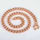 10MM Mens Huge Curb Chain Sailor Buckle Link Rose Gold Filled Necklace 18-36inch