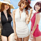 New Womens Ladies Hot Deep V Halter Neck Beach Swimsuit Swimwear Monokini