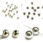 Sterling Silver Round Seamless Bead Spacer 2mm 3mm 4mm 6mm 8mm 10mm Many Size