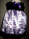 NEW Goth Baby Girls Black,lilac,Purple stars Lace Top/Dress,Rock,Punk,gift,Party