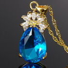 Sale! Jewelry Pear Cut Topaz Gold Tone Pendant Necklace For Dress