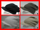 FREE UK P/P - Knitted Cotton Oversized Slouch Peaked Peak Beanie Cap Hat