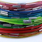 Lots  Magnetic Clasp Stainless Wire Cable 1MM Steel Chain Cord Necklace Charms