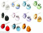 Swarovski Crystal Element 6128  Mini Pear Pendant Many Color & Size