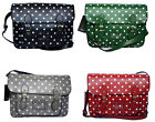 Faux Leather Polka Dot Cross Body Sling Messenger Satchel School Bag