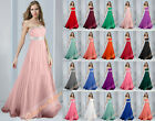 Beading Elegant Evening Gown Dresses Prom Bridesmaid Party Formal Cocktail 6-26