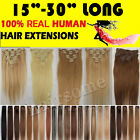 """18 Colors 15""""-30""""Clip In Real Human Hair Extensions Full Head 70G-120G Wholesale"""