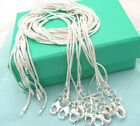FREE P&P Wholesale 1MM Wide Solid Silver Snake Chain Necklace Xmas Gift B925
