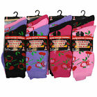 L84 LADIES 12prs WINTER WARM THERMAL BOOT SOCKS NEW DESIGN PATTERN OUTDOOR SOCKS