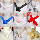New Lot Bridal Wedding Party Evening Dress Elbow Satin Opera Gloves More Colors