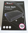 7800 mAh Dual USB Power Juice Bank Charger External Battery Pack with 3 Adapters