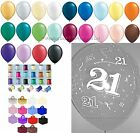 10 Table Kit 21st Birthday Helium Balloons Ribbons Weights Party Decorations
