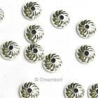 STERLING SILVER Round Swirl Flower Bead Cap 4mm / 6mm