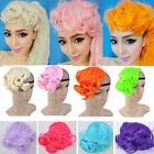 Female Wavy Curly Bangs Fringe Cosplay HairColorful Clip-in Hair Extension FAP17