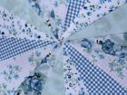 Handmade fabric bunting 9ft~9 flags New designs Free post Parties ~ celebrations
