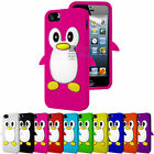 PENGUIN SILICONE SKIN CASE COVER & FREE SCREEN PROTECTOR FITS APPLE IPHONE 5S