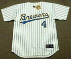 PAUL MOLITOR Milwaukee Brewers 1991 Majestic Cooperstown Home Baseball Jersey